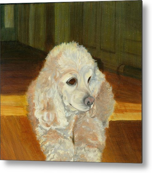 Animal Metal Print featuring the painting Remembering Morgan by Paula Emery