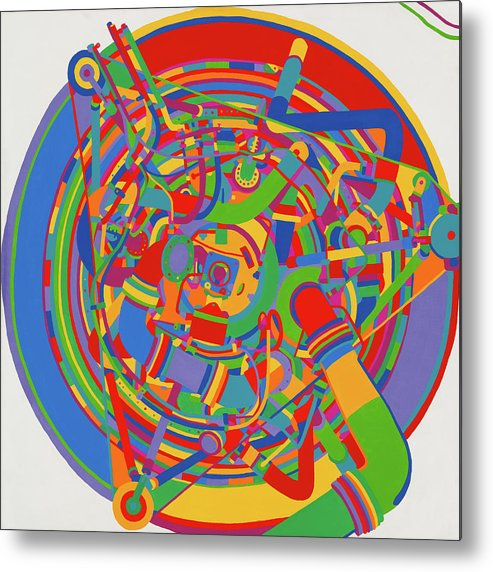 Rocket Metal Print featuring the painting Rocket by Janet Hansen
