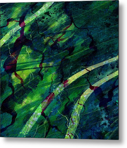 Abstract Metal Print featuring the digital art Root Canal by William Russell Nowicki