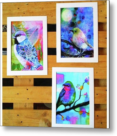 Metal Print featuring the photograph *sale* 3 11 X 14 In. Bird Prints With by Robin Mead