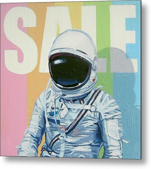 Astronaut Metal Print featuring the painting Sale by Scott Listfield