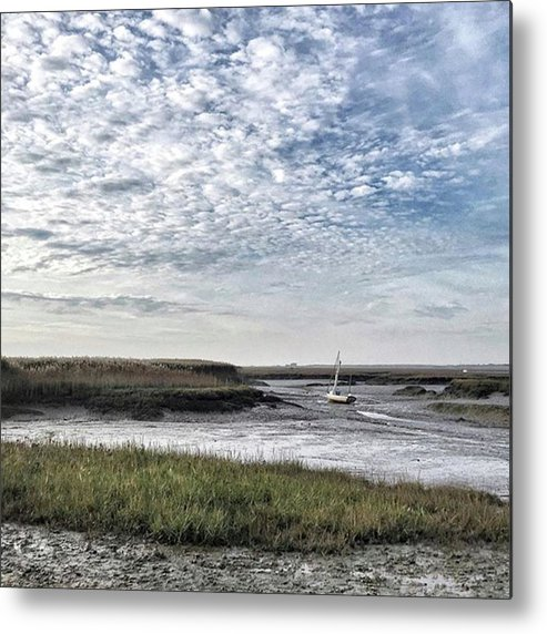 Beautiful Metal Print featuring the photograph Salt Marsh And Creek, Brancaster by John Edwards
