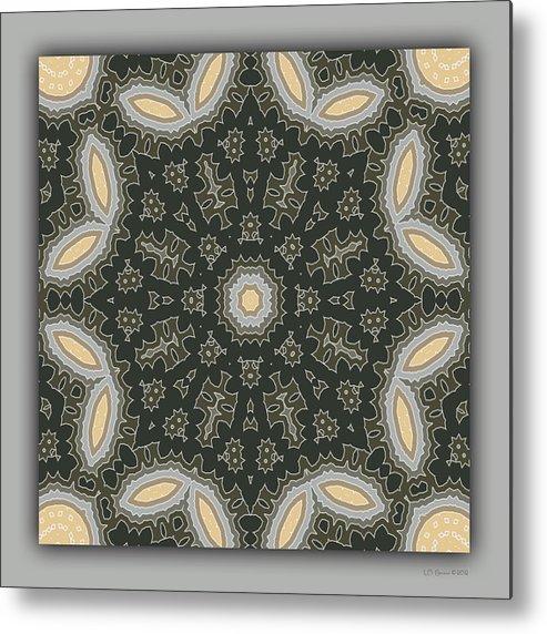 Kaleidoscope Metal Print featuring the digital art Sand and Shadows 1 by Lynn Evenson