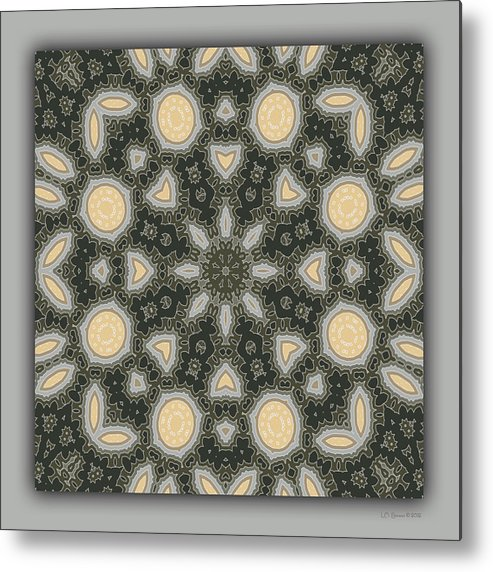 Kaleidoscope Metal Print featuring the digital art Sand and Shadows 2 by Lynn Evenson