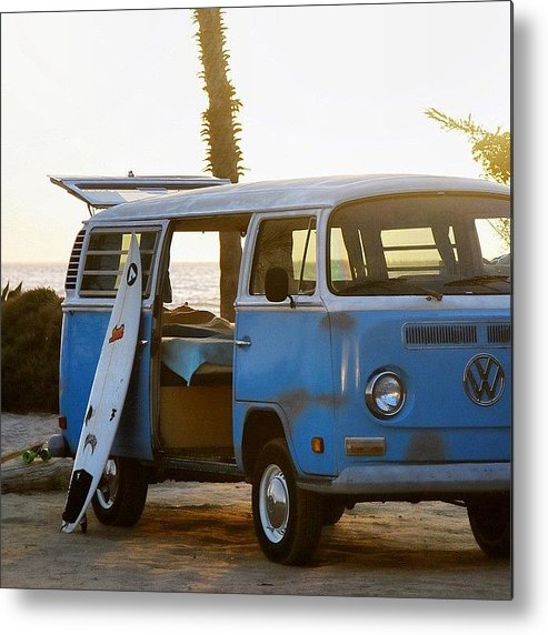 Volkswagen Metal Print featuring the photograph VW and Surfboard by Hal Bowles