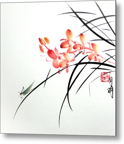 Nature Metal Print featuring the painting Scent Attraction by Ming Yeung