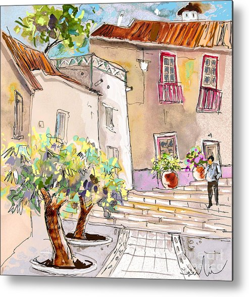 Portugal Paintings Metal Print featuring the painting Serpa Portugal 36 by Miki De Goodaboom