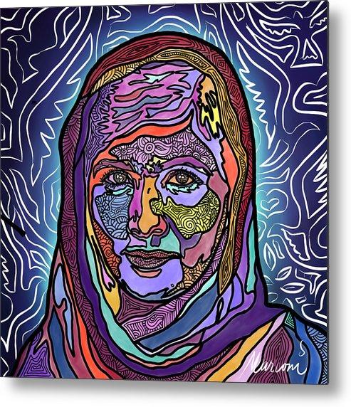Malala Metal Print featuring the digital art She is Malala by Marconi Calindas