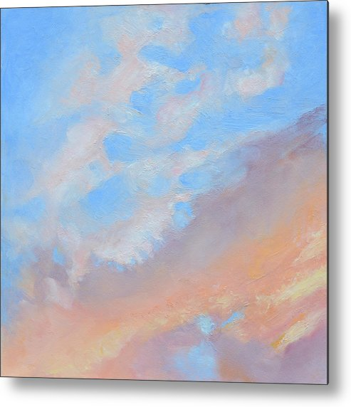 Oil Metal Print featuring the painting Poet's Sky by Mary Chant
