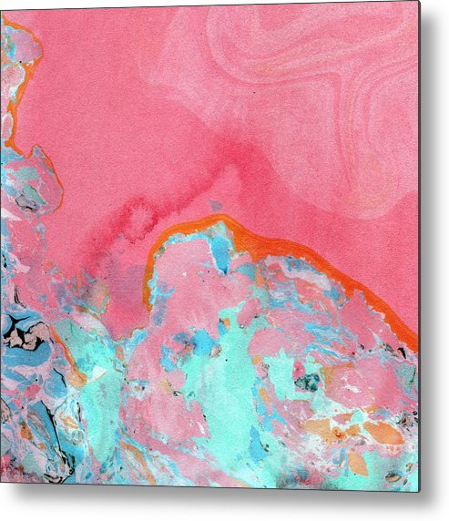 Abstract Metal Print featuring the painting Somewhere New- Abstract Art by Linda Woods by Linda Woods