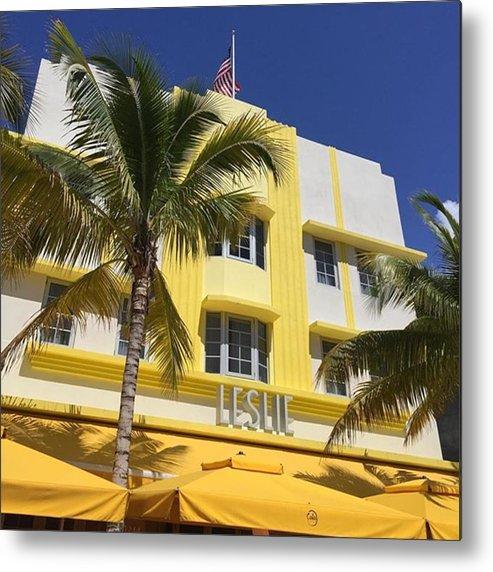 Miamiarchitecturalphotography Metal Print featuring the photograph South Beach #juansilvaphotos by Juan Silva