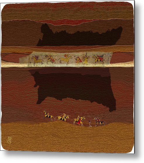 Buffalo Robe � Plains Indians. Metal Print featuring the digital art Spirit of '76...1876 by John Helgeson