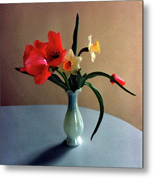 Spring Metal Print featuring the digital art Spring Still Life by Steve Karol