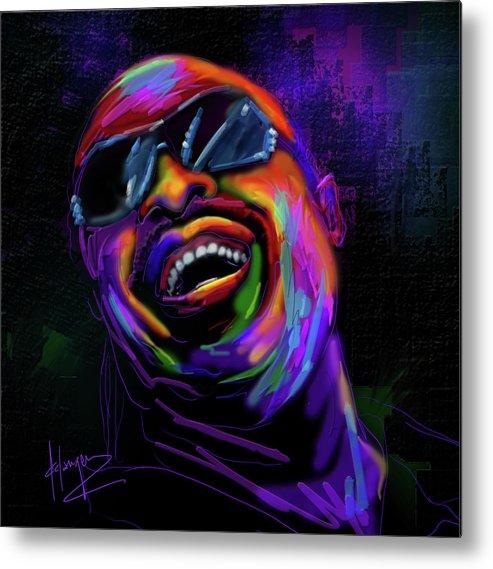 Stevie Wonder Metal Print featuring the painting Stevie Wonder by DC Langer