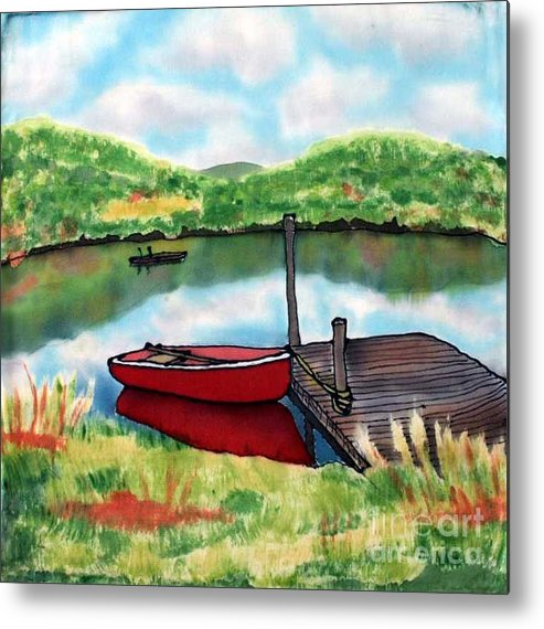 Summer Metal Print featuring the painting Sumer Reflections by Linda Marcille