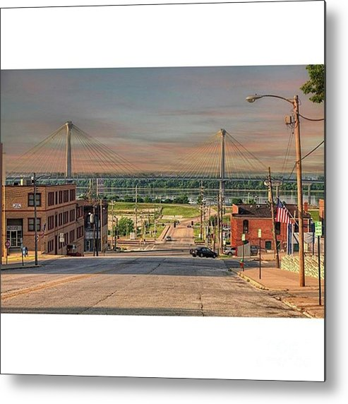 Fineartamerica Metal Print featuring the photograph Sunday Morning Henry Street Alton by Larry Braun