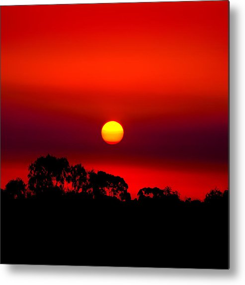 Landscape Metal Print featuring the photograph Sunset Dreaming by Az Jackson
