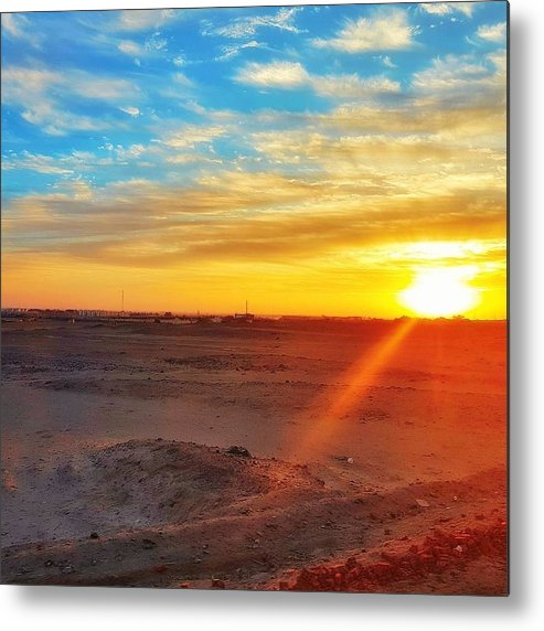 Sunset Metal Print featuring the photograph Sunset in Egypt by Usman Idrees