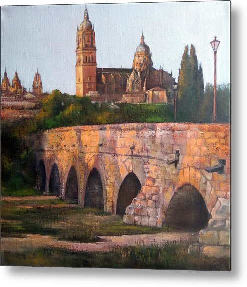 Sunset Metal Print featuring the painting Sunset in Salamanca by Tomas Castano