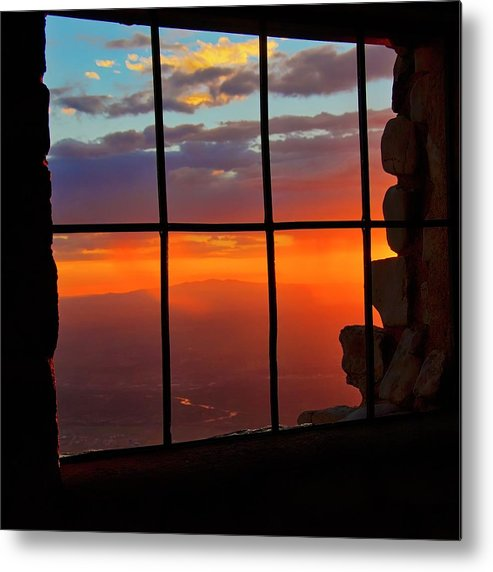 Fine Art Photography Metal Print featuring the photograph Sunset on Albuquerque's Rio Grande Valley by Zayne Diamond Photographic