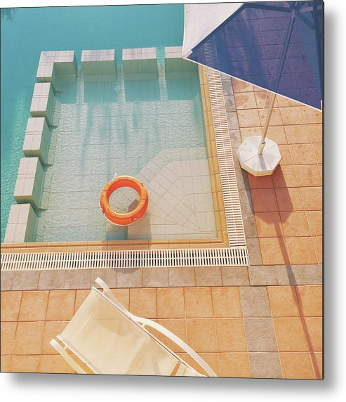 Water Metal Print featuring the photograph Swimming Pool by Cassia Beck