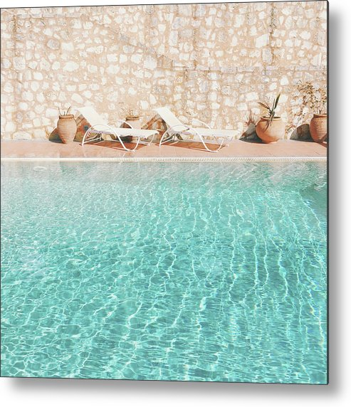 Water Metal Print featuring the photograph Swimming Pool V by Cassia Beck