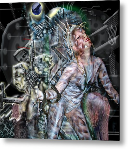 Surreal Metal Print featuring the photograph Technological Re-Birth by Leigh Odom