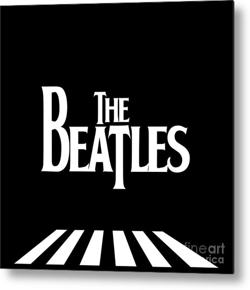 Artwork Metal Print featuring the digital art The Beatles No.03 by Geek N Rock