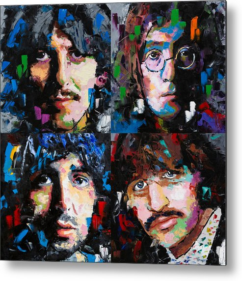The Beatles Metal Print featuring the painting The Beatles by Richard Day