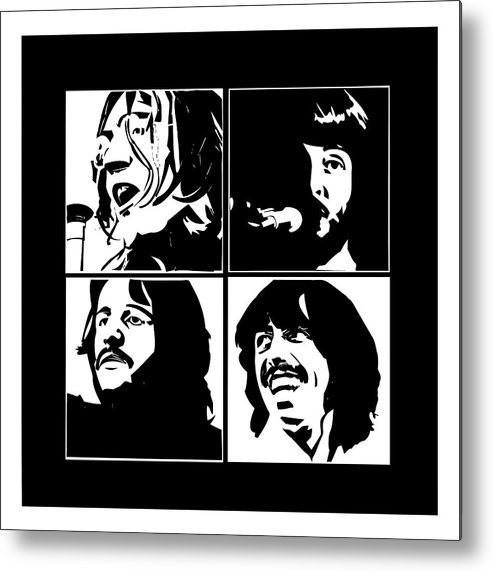 The Beatles Metal Print featuring the digital art The Beatles by Geek N Rock