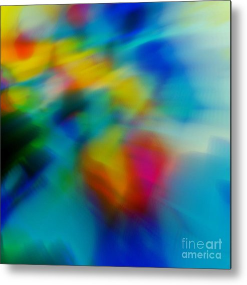 Abstract Metal Print featuring the painting The Blossom Within by Wbk