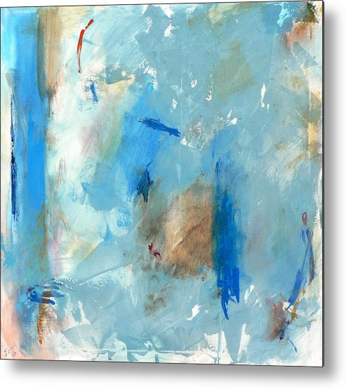 Abstract Metal Print featuring the painting The Blues by Jacquie Gouveia