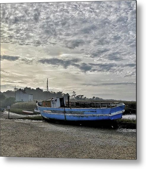 Beautiful Metal Print featuring the photograph The Fixer-upper, Brancaster Staithe by John Edwards