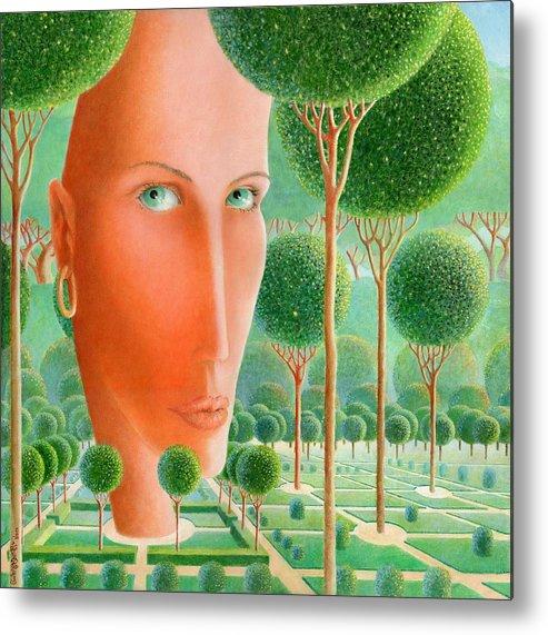 Giuseppe Mariotti Metal Print featuring the painting The Garden by Giuseppe Mariotti