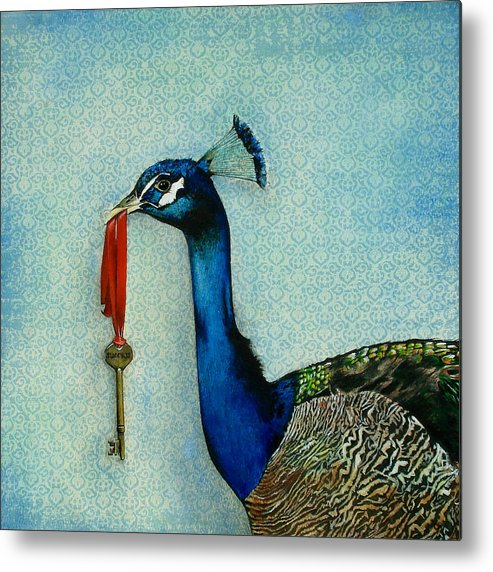 The Key To Success Metal Print featuring the painting The Key To Success by Carrie Jackson