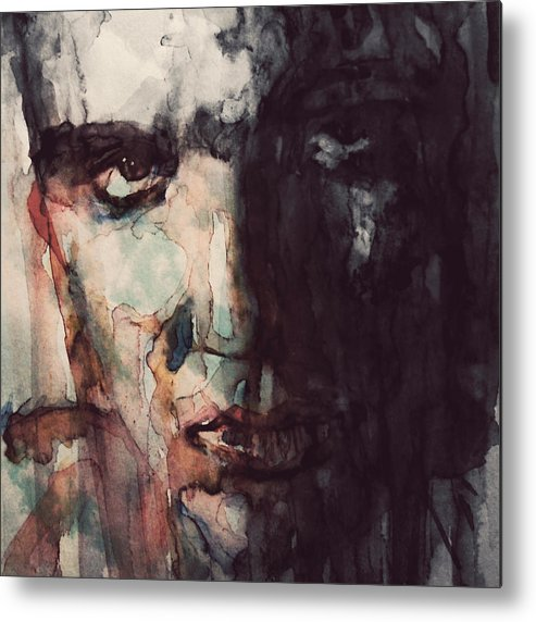 Elvis Metal Print featuring the painting The King by Paul Lovering