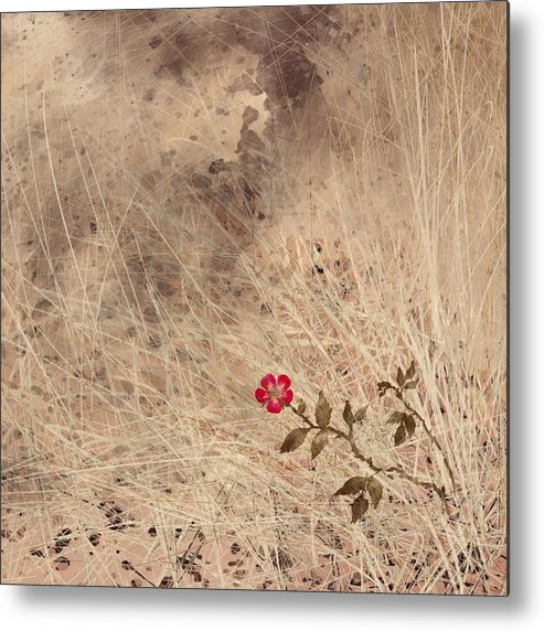 Abstract Metal Print featuring the digital art The Last Blossom by William Russell Nowicki
