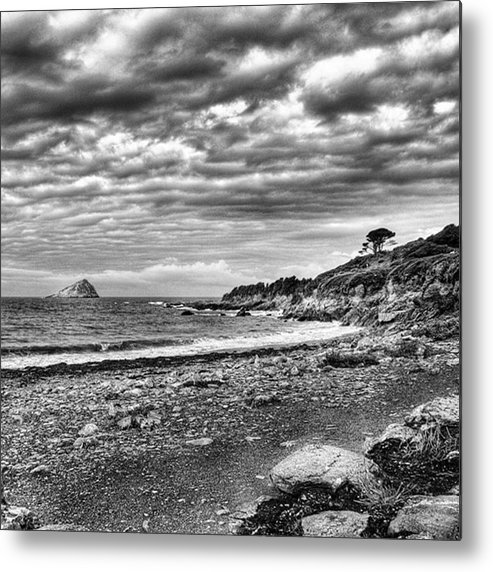 Devonshire Metal Print featuring the photograph The Mewstone, Wembury Bay, Devon #view by John Edwards