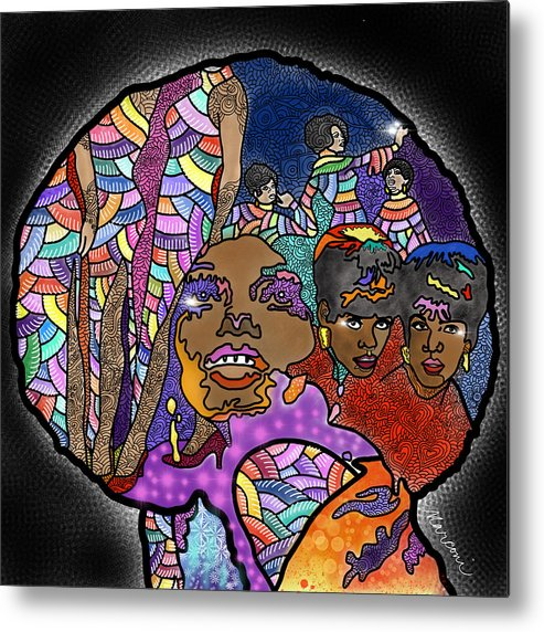 The Supremes Metal Print featuring the digital art The Supreme Beings by Marconi Calindas