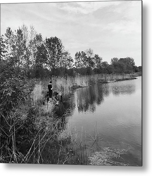 Water Metal Print featuring the photograph Moving the Water by Frank J Casella