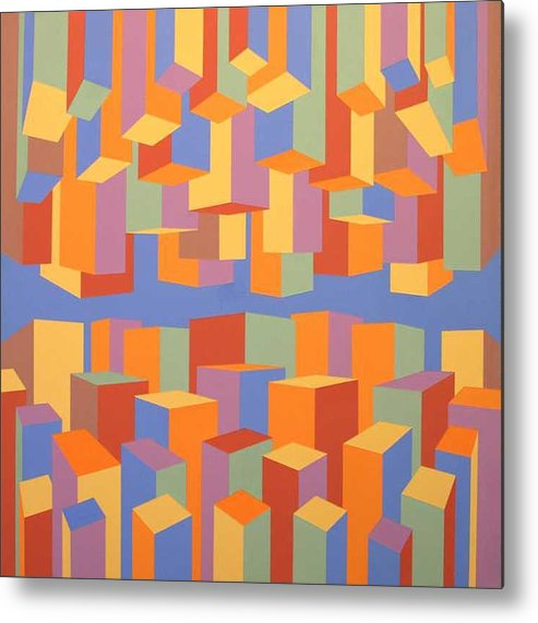 Abstract Metal Print featuring the painting The Upside of Down by Marston A Jaquis