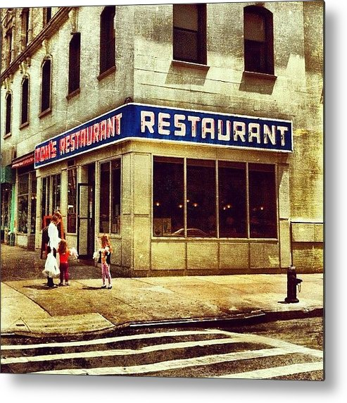 Summer Metal Print featuring the photograph Tom's Restaurant. #seinfeld by Luke Kingma