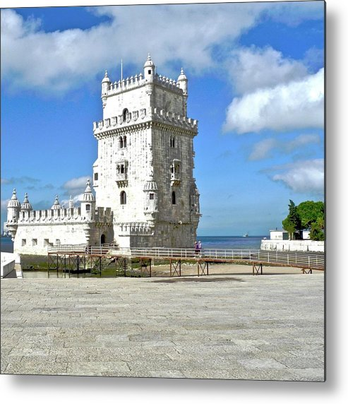 Tower Of Belem Metal Print featuring the photograph Tower of Belem by Kirsten Giving