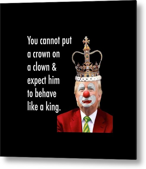 Trump The Clown Metal Print By Youssef Youchaa