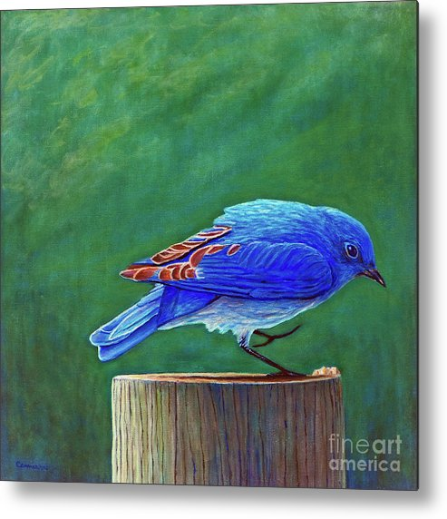 Bluebird Metal Print featuring the painting Two Step by Brian Commerford