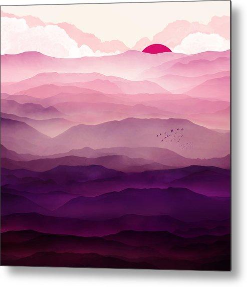 Violet Metal Print featuring the digital art Ultraviolet Day by Spacefrog Designs