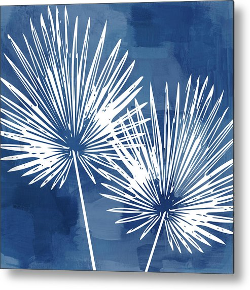 Tropical Metal Print featuring the mixed media Under The Palms- Art by Linda Woods by Linda Woods