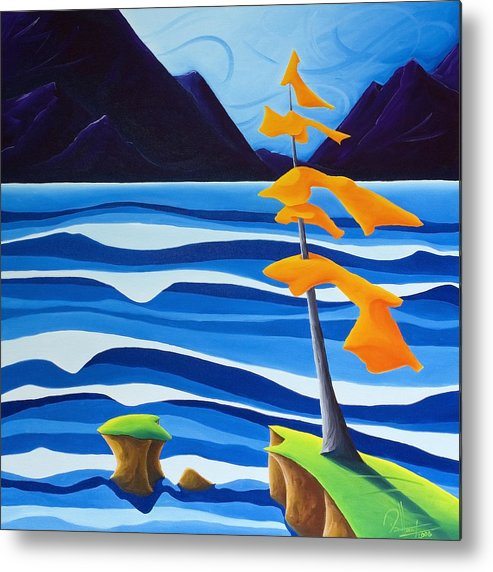 Landscape Metal Print featuring the painting Waves Of Emotion by Richard Hoedl