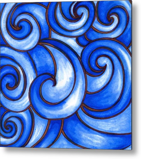 Water Metal Print featuring the painting Waves of Mercy by Vonda Drees