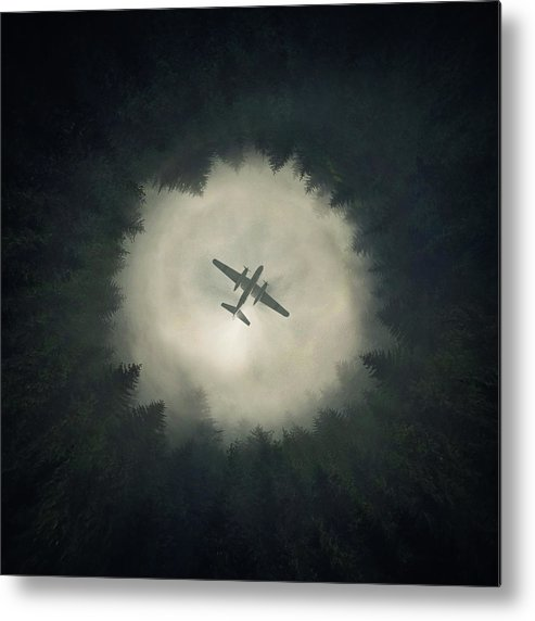 Airplane Metal Print featuring the digital art Way Out by Zoltan Toth